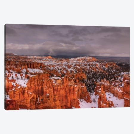 Storm Over Bryce Canyon Canvas Print #SHL190} by Bill Sherrell Canvas Print