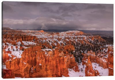 Storm Over Bryce Canyon Canvas Art Print