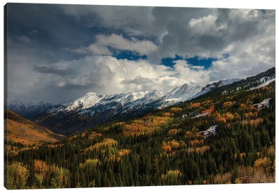 Storm Over Red Mountain Pass Canvas Art Print