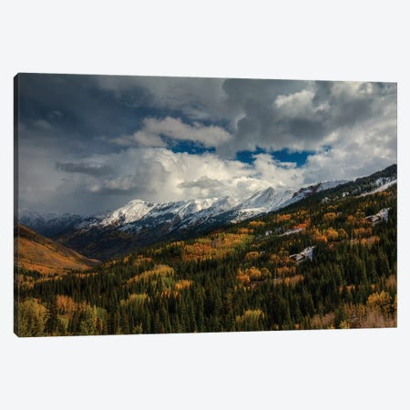 Storm Over Red Mountain Pass 3-Piece Canvas #SHL191} by Bill Sherrell Art Print