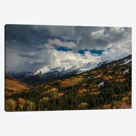 Storm Over Red Mountain Pass Canvas Print #SHL191} by Bill Sherrell Art Print