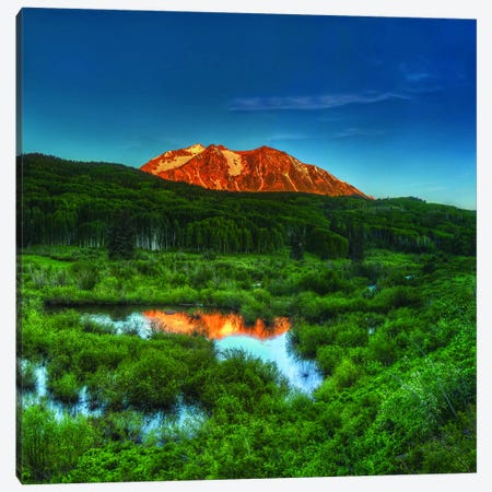 Sunrise At East Beckwith Mountain Canvas Print #SHL197} by Bill Sherrell Canvas Artwork