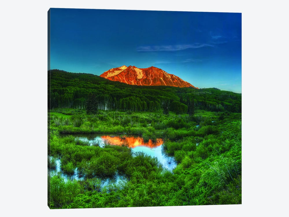 Sunrise At East Beckwith Mountain by Bill Sherrell 1-piece Canvas Print