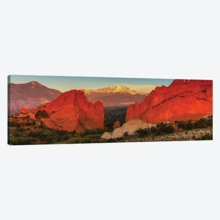 Sunrise At Garden Of The Gods Canvas Print #SHL198} by Bill Sherrell Canvas Print