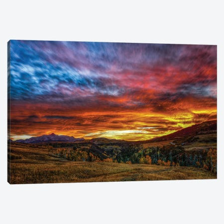 A Sunset To Remember Canvas Print #SHL19} by Bill Sherrell Art Print