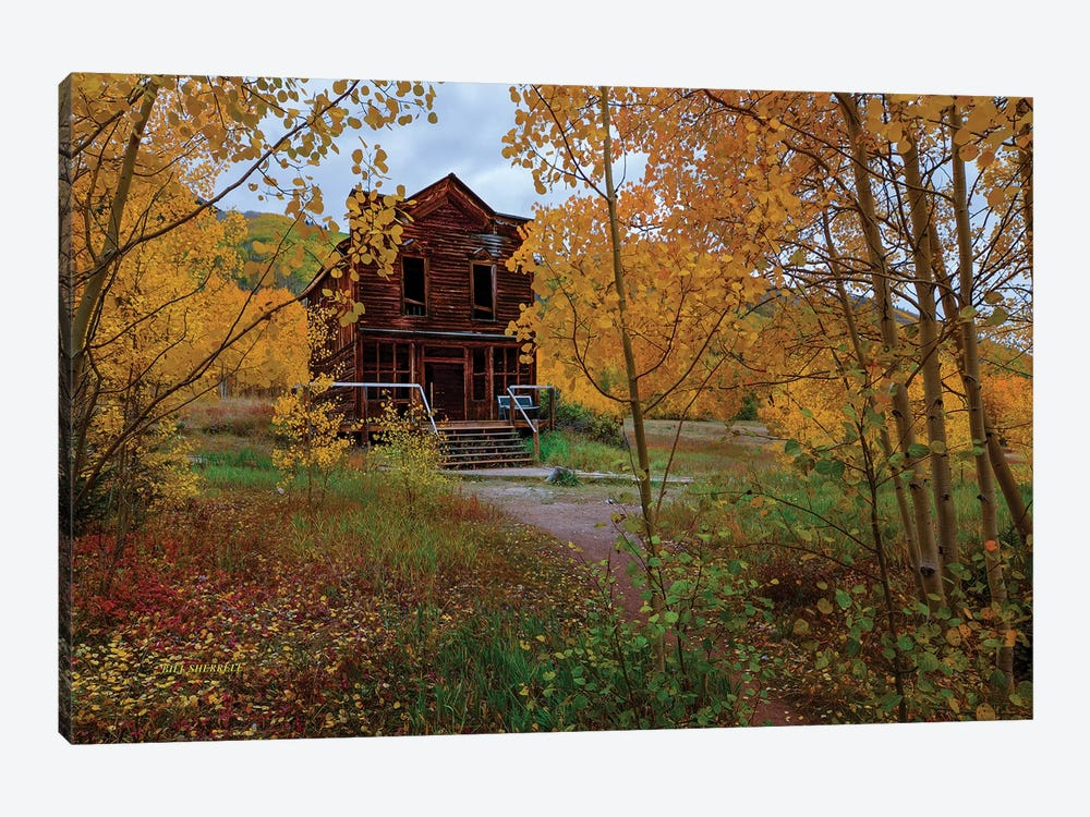 The Historic Ashcroft Hotel by Bill Sherrell 1-piece Canvas Artwork