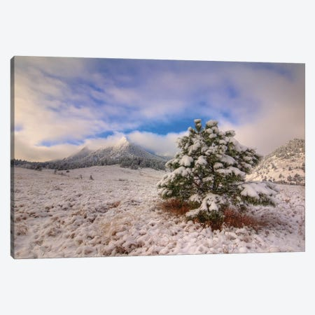 The Magical Flatirons Canvas Print #SHL210} by Bill Sherrell Canvas Wall Art