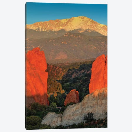Vertical Gateway To Majesty Canvas Print #SHL225} by Bill Sherrell Canvas Wall Art