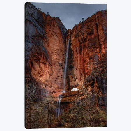 Waterfall Beauty At Zion Canvas Print #SHL228} by Bill Sherrell Canvas Art Print