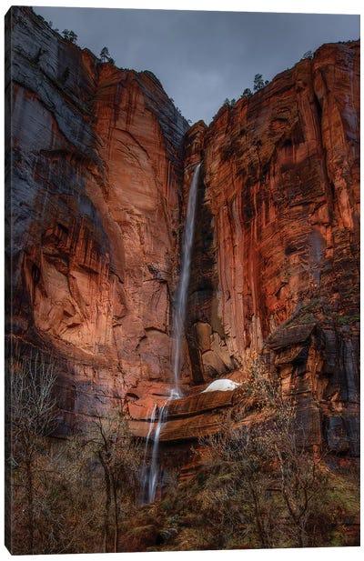 Waterfall Beauty At Zion Canvas Art Print