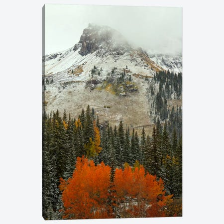 An Epiphany Of Red-Orange Canvas Print #SHL22} by Bill Sherrell Canvas Wall Art