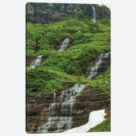 Waterfalls Canvas Print #SHL230} by Bill Sherrell Canvas Art