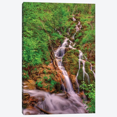 Waterfalls In Paradise Canvas Print #SHL232} by Bill Sherrell Canvas Wall Art