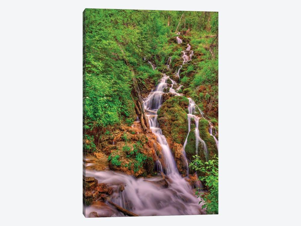 Waterfalls In Paradise by Bill Sherrell 1-piece Canvas Art