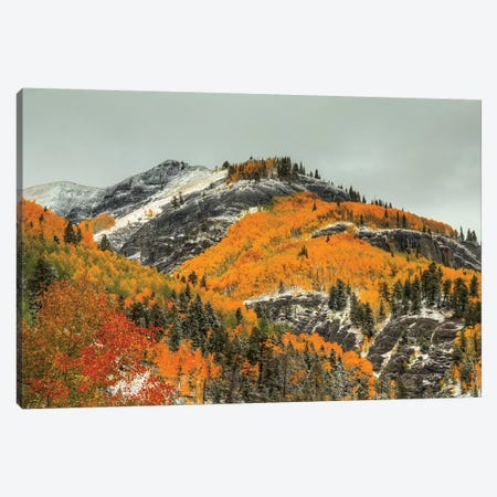 White Lace And Autumn Ridges Canvas Print #SHL233} by Bill Sherrell Canvas Wall Art