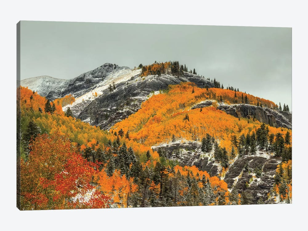 White Lace And Autumn Ridges by Bill Sherrell 1-piece Canvas Art Print