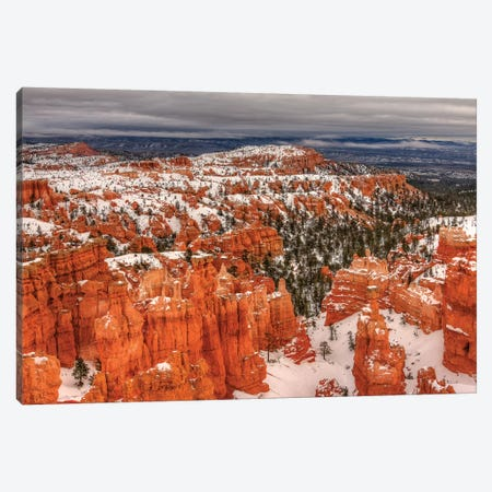 Snow At Bryce Canyon Canvas Print #SHL254} by Bill Sherrell Art Print