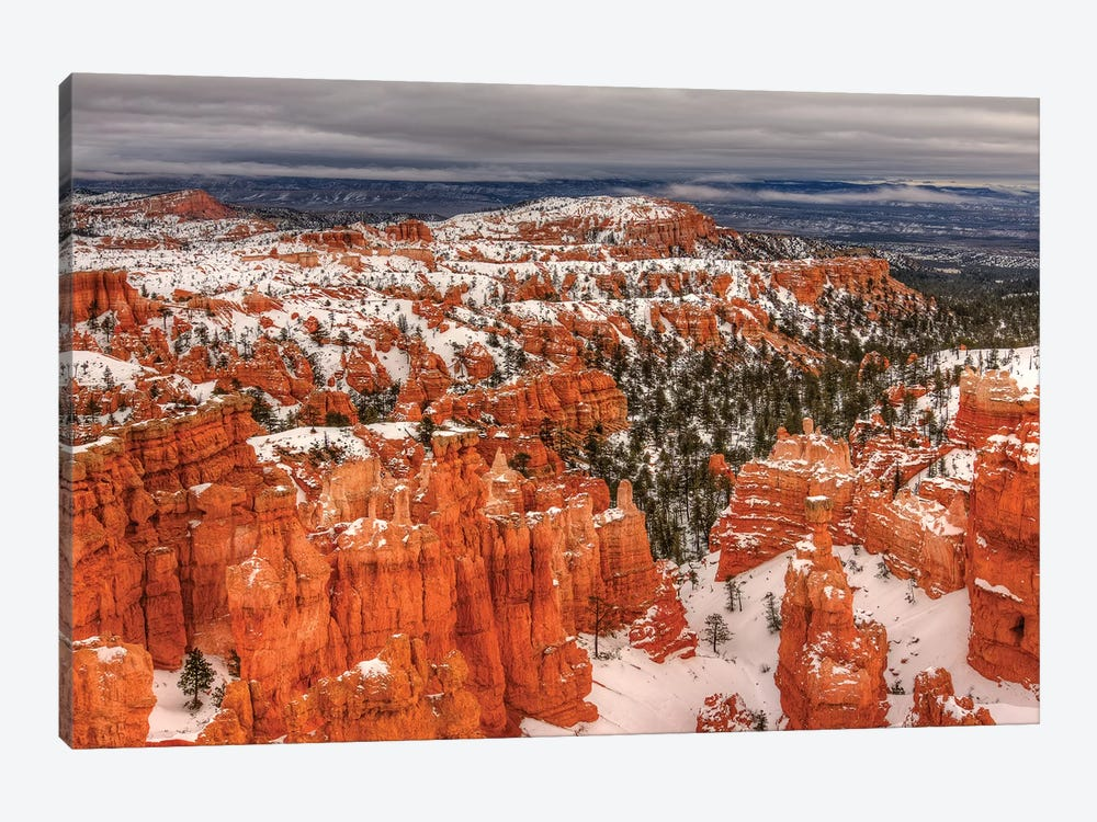 Snow At Bryce Canyon by Bill Sherrell 1-piece Canvas Artwork