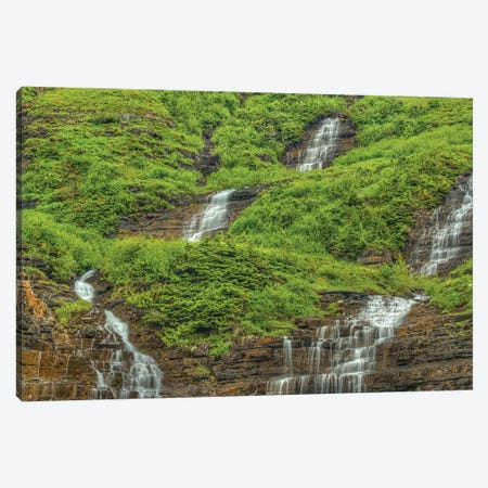 Waterfall Encounter Canvas Print #SHL260} by Bill Sherrell Canvas Print