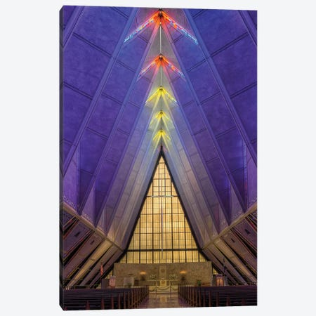 U.S. Air Force Cadet Chapel Canvas Print #SHL273} by Bill Sherrell Canvas Artwork