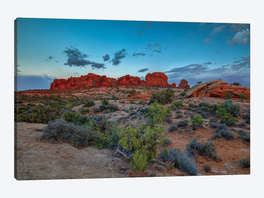 A Utah Rock And Glow Sunset by Bill Sherrell 1-piece Canvas Artwork