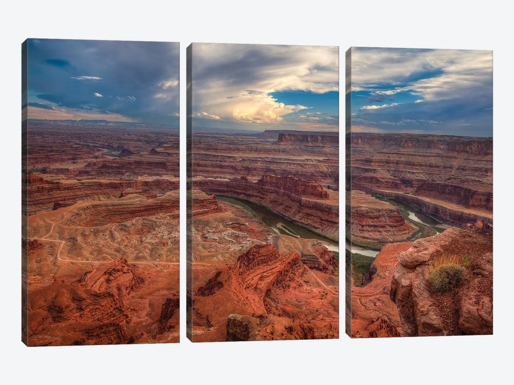 Dead Horse Canyon-Utah I by Bill Sherrell 3-piece Canvas Art