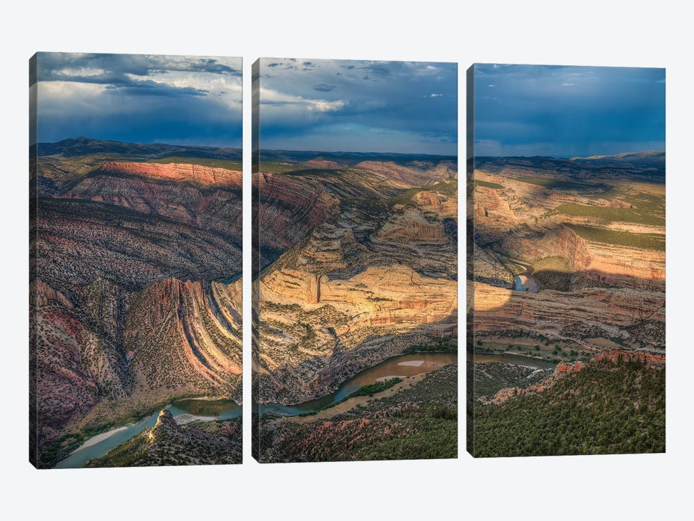 Dinosaur National Park-Colorado by Bill Sherrell 3-piece Canvas Wall Art