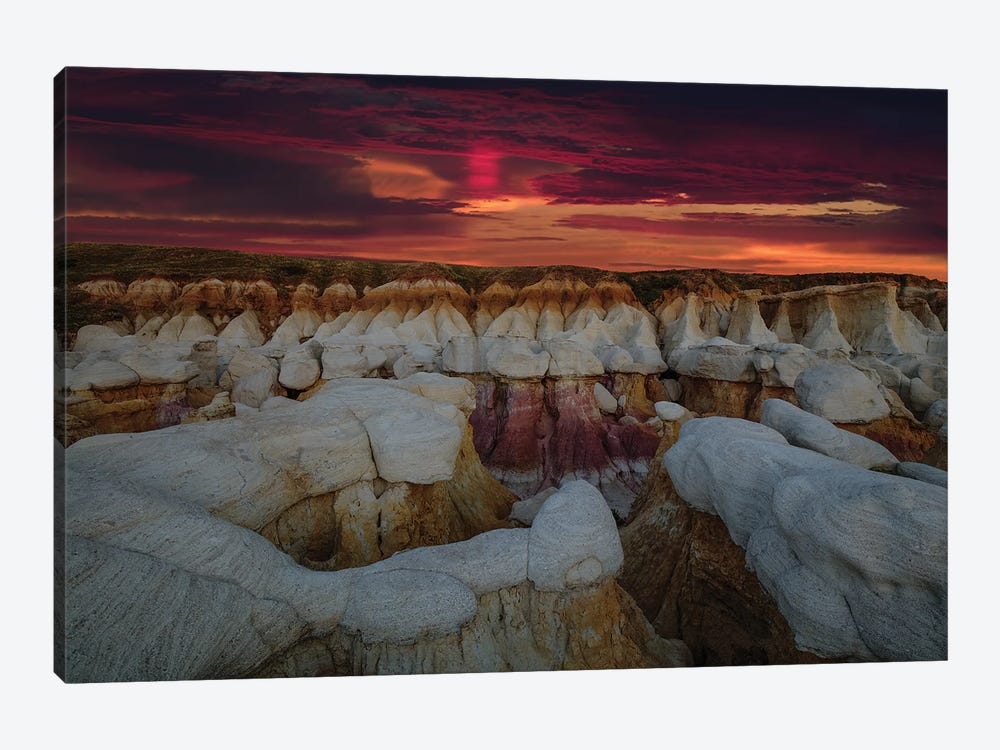 Sunrise Glory Over The Calhan Paint Mines by Bill Sherrell 1-piece Canvas Art Print
