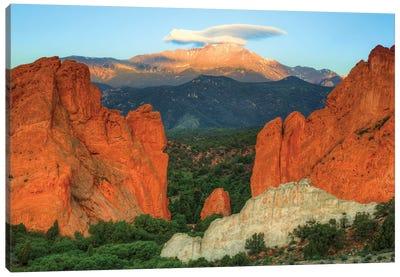 Taking Flight Over Pikes Peak Canvas Art Print