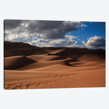 The Great Dunes In Colorado Canvas Print #SHL302} by Bill Sherrell Canvas Wall Art