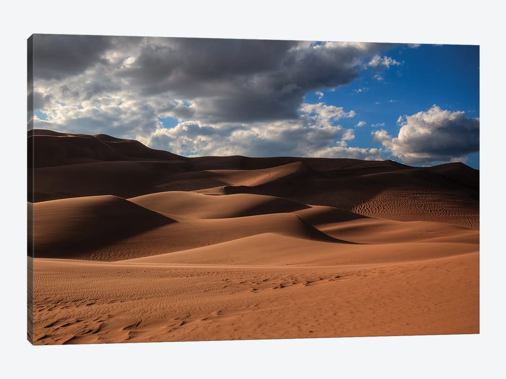 The Great Dunes In Colorado by Bill Sherrell 1-piece Canvas Wall Art