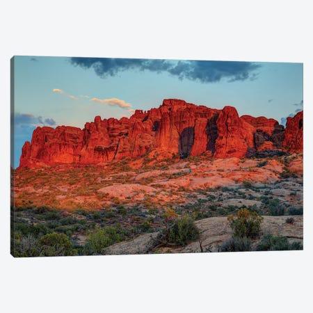 The Magic Of Sunset In Utah Canvas Print #SHL303} by Bill Sherrell Canvas Artwork