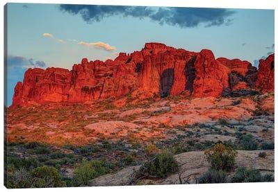 The Magic Of Sunset In Utah Canvas Art Print