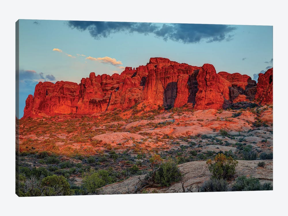 The Magic Of Sunset In Utah by Bill Sherrell 1-piece Canvas Art Print