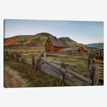 Autumn At The Farm Canvas Print #SHL309} by Bill Sherrell Canvas Artwork