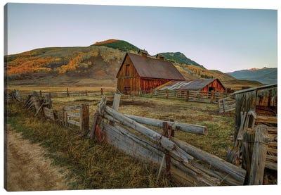 Autumn At The Farm Canvas Art Print