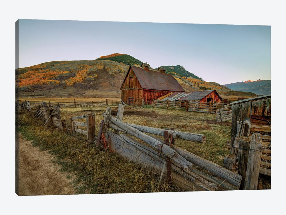 Autumn At The Farm by Bill Sherrell 1-piece Canvas Print