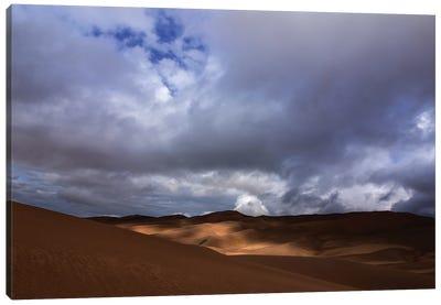 Light Dance On Sand Dunes Canvas Art Print
