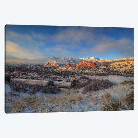 Morning Glory At Garden Of The Gods Canvas Print #SHL357} by Bill Sherrell Canvas Artwork