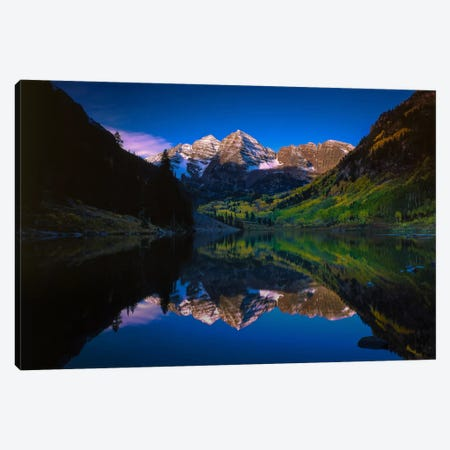 Autumn At Maroon Bells Canvas Print #SHL37} by Bill Sherrell Canvas Artwork