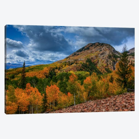 Autumn Foothill Canvas Print #SHL46} by Bill Sherrell Canvas Art Print