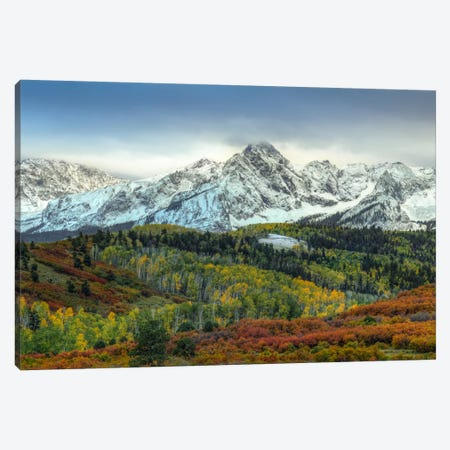 Autumn Prelude At Mount Sneffels Canvas Print #SHL52} by Bill Sherrell Canvas Art Print