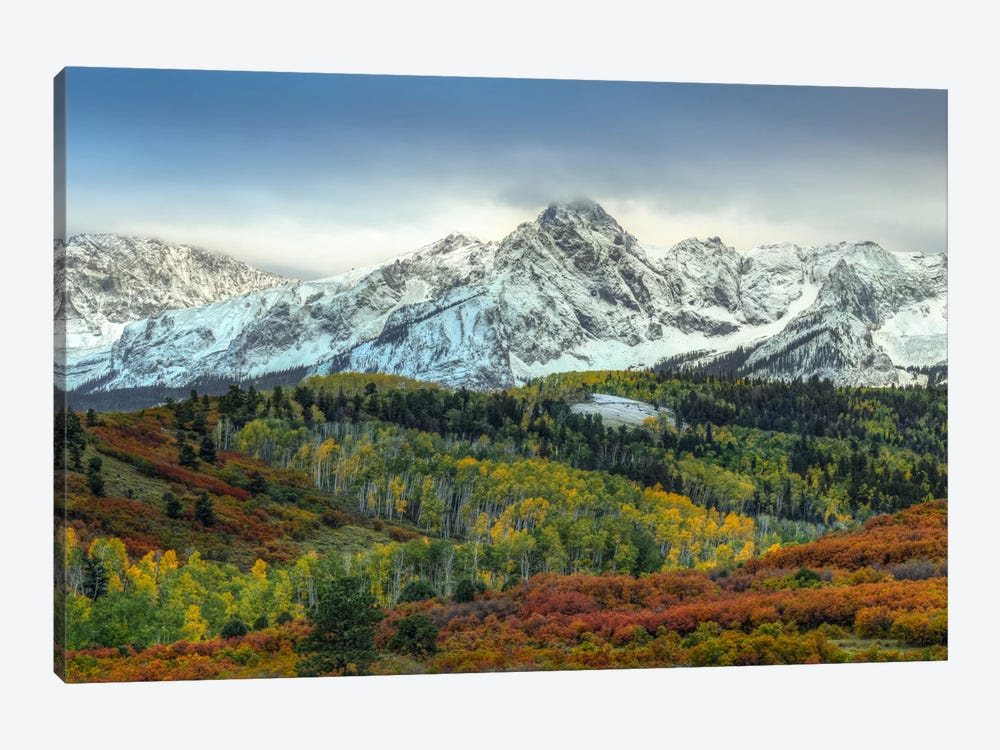 Autumn Prelude At Mount Sneffels by Bill Sherrell 1-piece Canvas Art