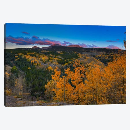 Autumn Sunset Near Durango Canvas Print #SHL58} by Bill Sherrell Art Print