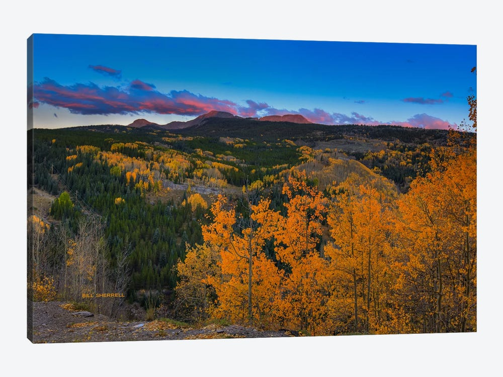 Autumn Sunset Near Durango by Bill Sherrell 1-piece Canvas Artwork