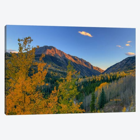 Autumn Sunset Rocky Mountain Style 3-Piece Canvas #SHL59} by Bill Sherrell Canvas Print