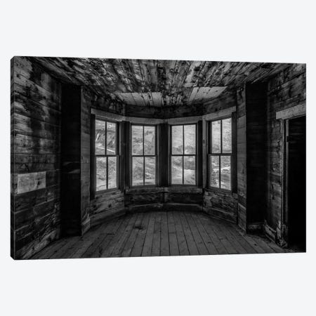 Bay Window, B&W Canvas Print #SHL66} by Bill Sherrell Canvas Art Print
