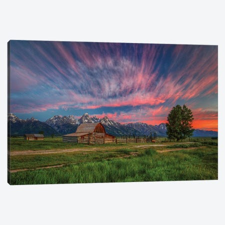 Beneath Teton Glory Canvas Print #SHL70} by Bill Sherrell Canvas Print