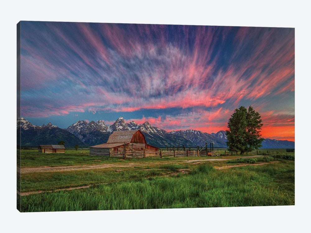 Beneath Teton Glory by Bill Sherrell 1-piece Canvas Art