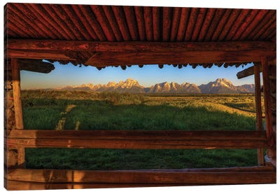 Breezeway View Of The Grand Tetons Canvas Art Print